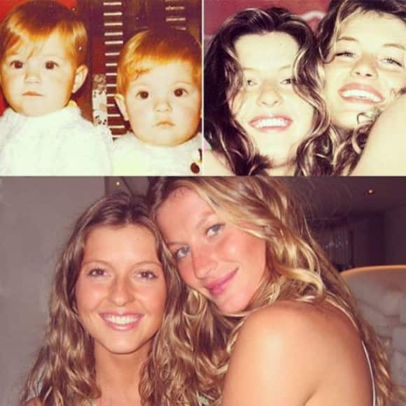 Gisele Bündchen and her twin sister Pati