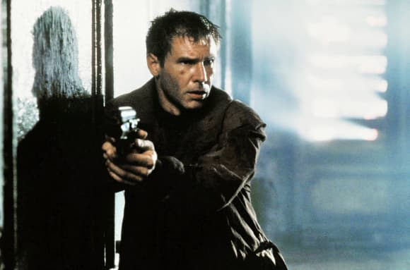 """Harrison Ford starred as """"Rick Deckard"""" in the 1982 classic 'Blade Runner'."""