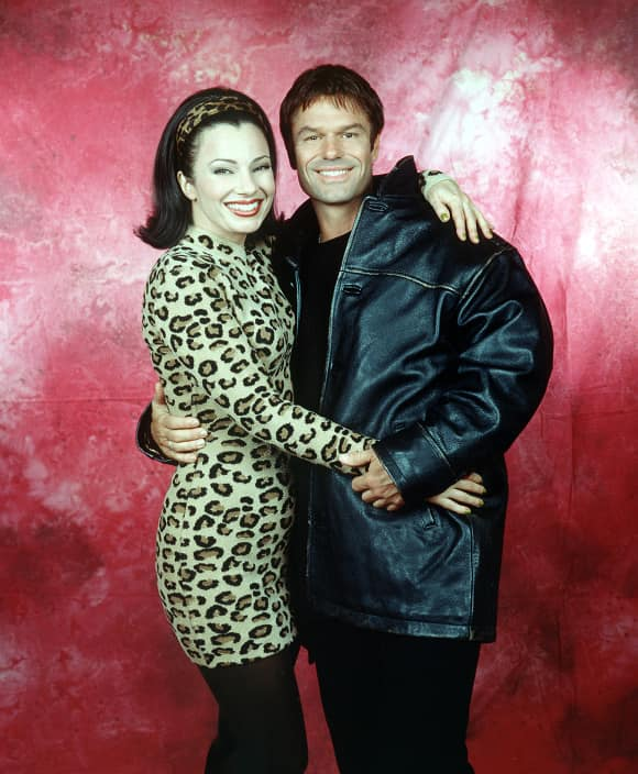 "Harry Hamlin and Fran Drescher in ""The Nanny"""