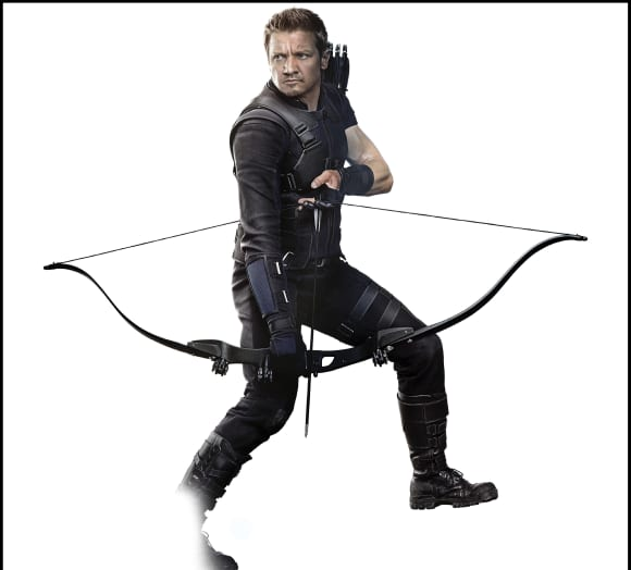 """""""Hawkeye"""" is played by Jeremy Renner."""