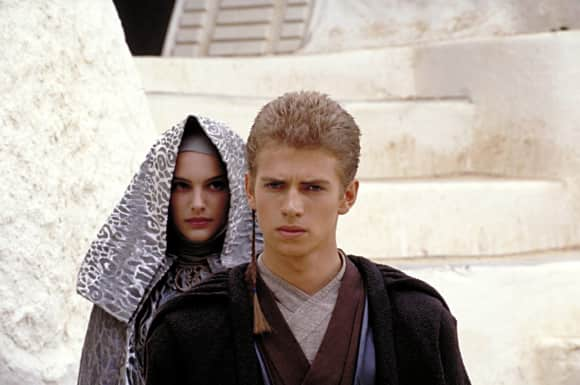 "Hayden Christensen played the young ""Anakin Skywalker"""
