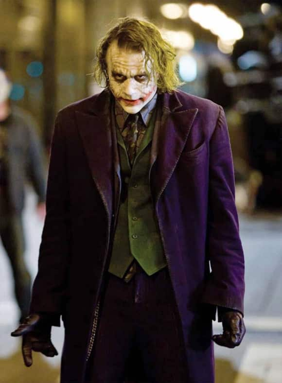 "Heath Ledger in ""The Dark Knight"""
