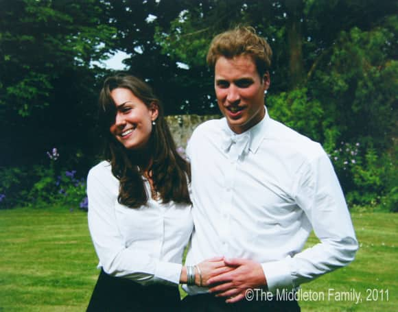 Duchess Catherine and Prince William at St. Andrews