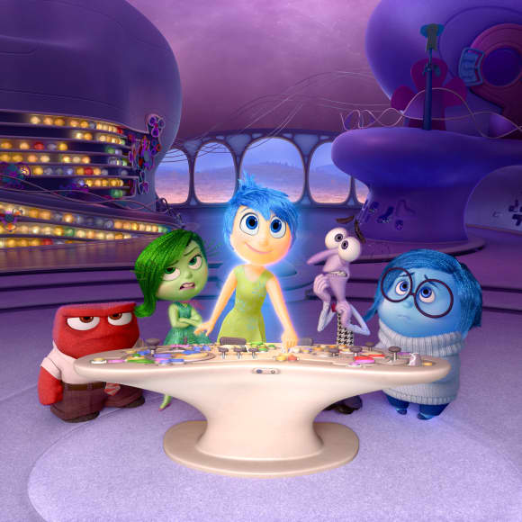 """Joy"",  ""Fear"", ""Anger"", ""Disgust"" and ""Sadness"" from Inside Out"
