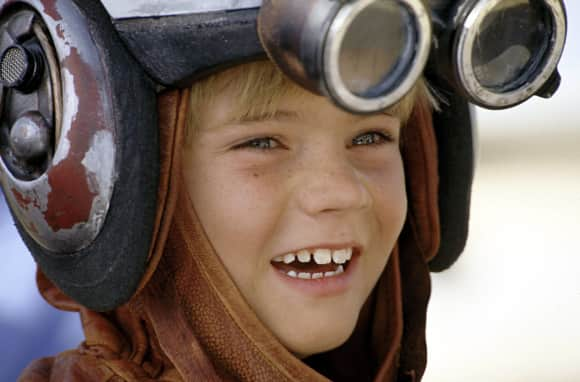 "Jake Lloyd as ""Anakin Skywalker"" in Star Wars: Episode I - The Phantom Menace."