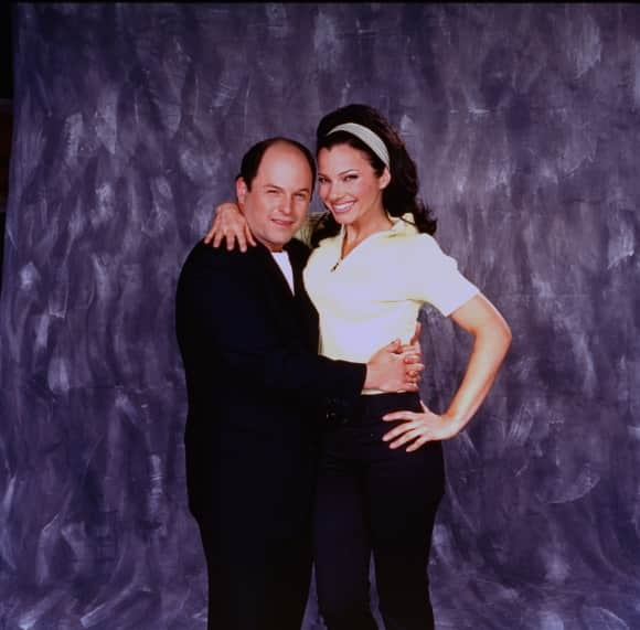 "Jason Alexander and Fran Drescher in ""The Nanny"""