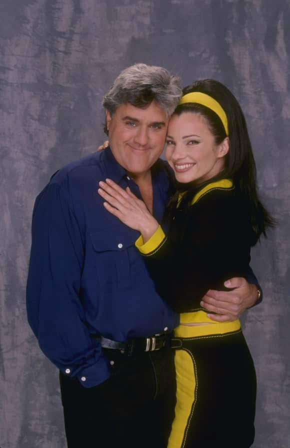 "TV presenter Jay Leno featured in ""The Nanny"""