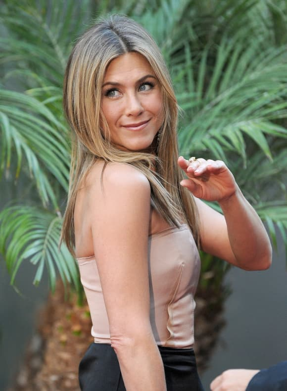 "Jennifer Aniston at the L.A. premiere of ""The Switch""."