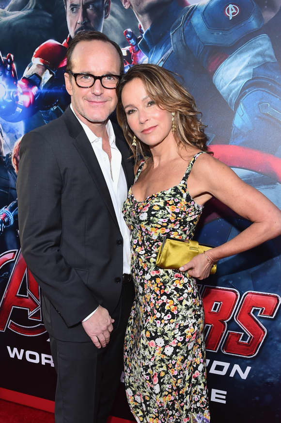 Jennifer Grey with her husband Clark Gregg