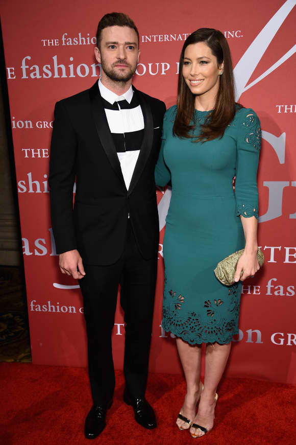 Jessica Biel and Justin Timberlake arriving together at an event