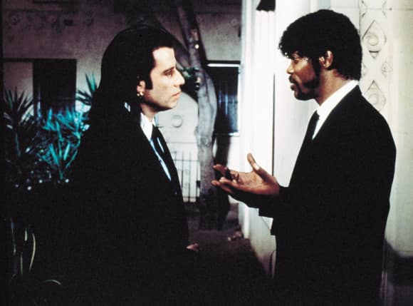 John Travolta and Samuel L. Jackson in Pulp Fiction famous quote
