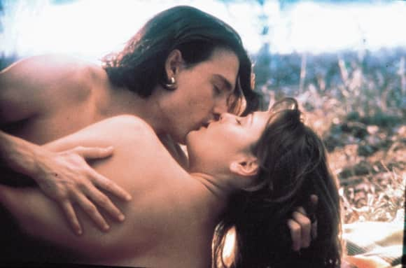 "Faye Dunaway and Johnny Depp in ""Don Juan de Marco"""