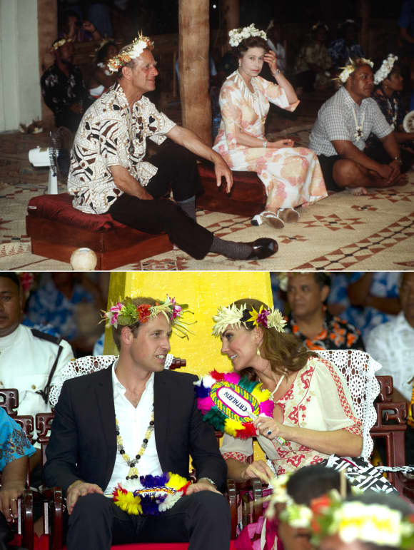 Two Royal travels to the Pacifics - 30 years apart