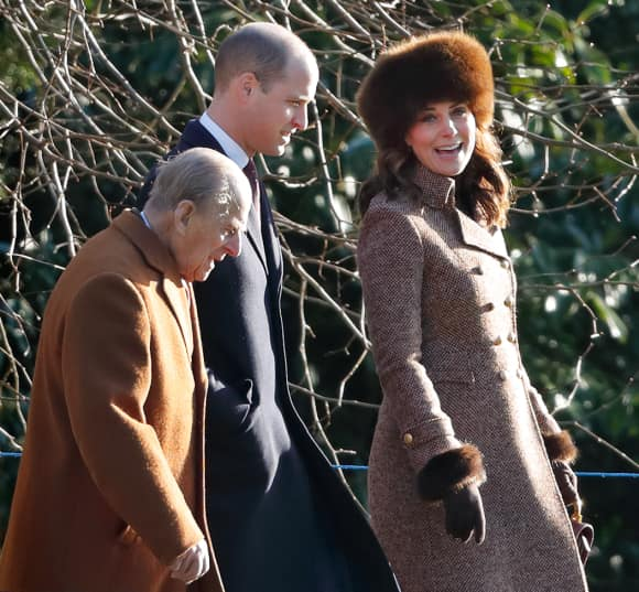 Prince Philip, Prince William and Duchess Catherine