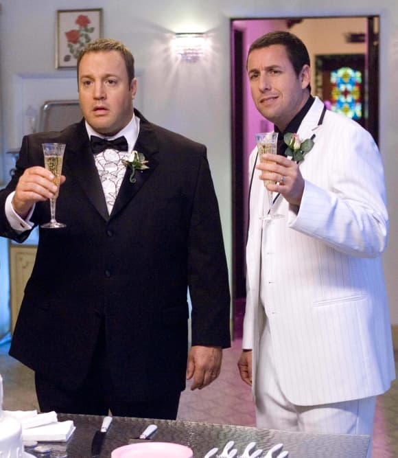 Kevin James and Adam Sandler in 'I Now Pronounce You Chuck & Larry'