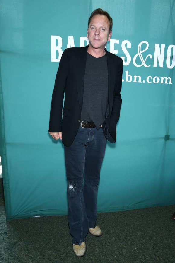 """Kiefer Sutherland at the launch party for his album """"Down in a Hole"""""""