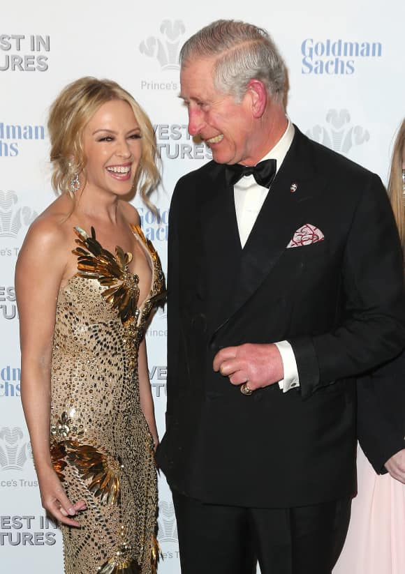 Kylie Minogue Prince Charles London