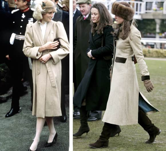 Lady Diana and Duchess Catherine share a similar sense for fashion