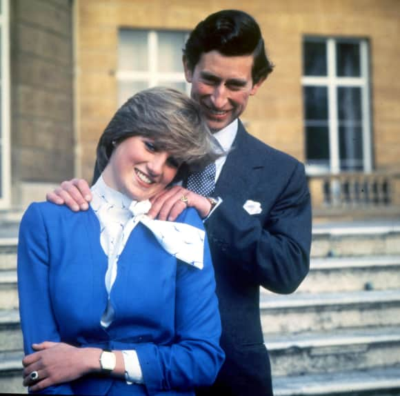 Princess Diana and Prince Charles on the day of their engagement February 24th 1981
