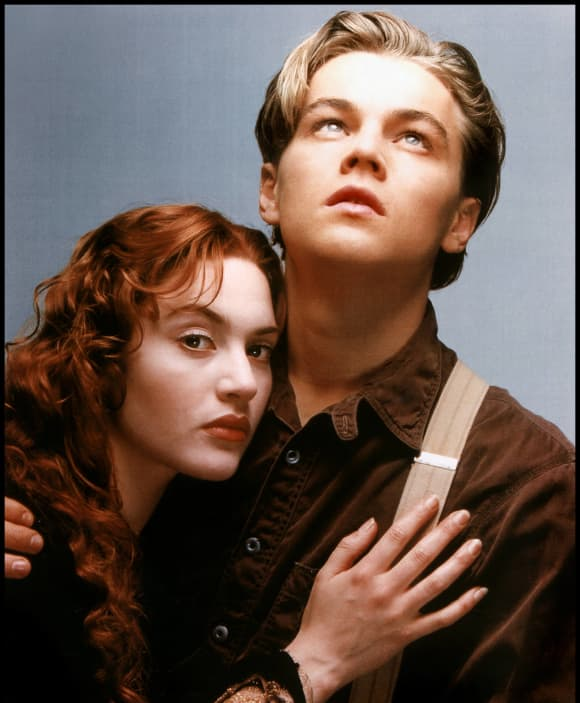 Leonardo DiCaprio and Kate Winslet in 'Titanic'