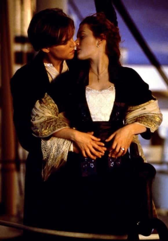 "Leonardo DiCaprio and Kate Winslet in ""Titanic"""