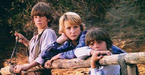 Michael Landon and Sean Penn in Little House on the Prarie