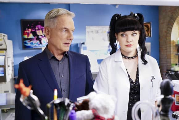 "Mark Harmon and Pauley Perrette in ""Navy CIS"""