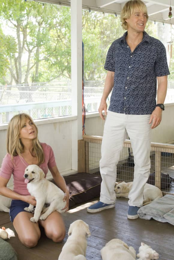 """Jennifer Aniston and Owen Wilson in the film """"Marley & Me""""."""