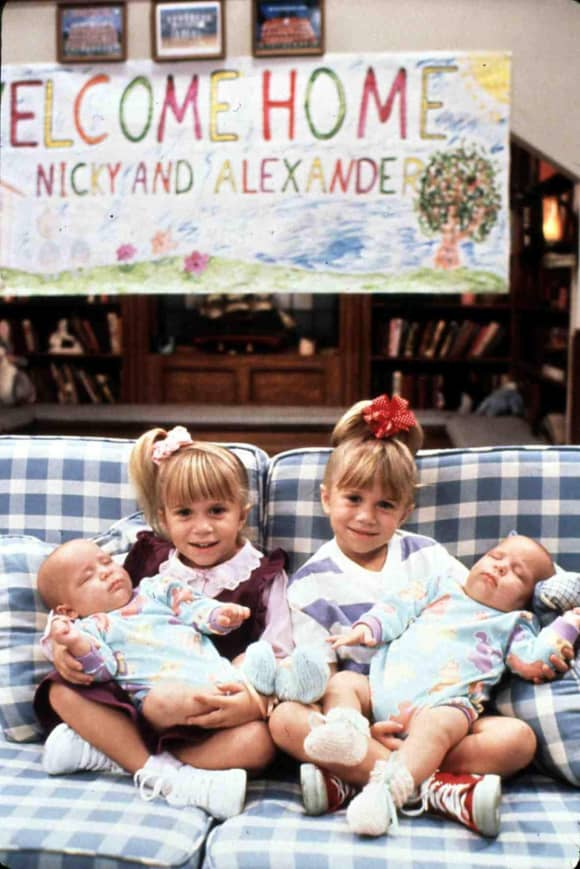 Ashley and Mary-Kate Olsen in 'Full House' (1987)