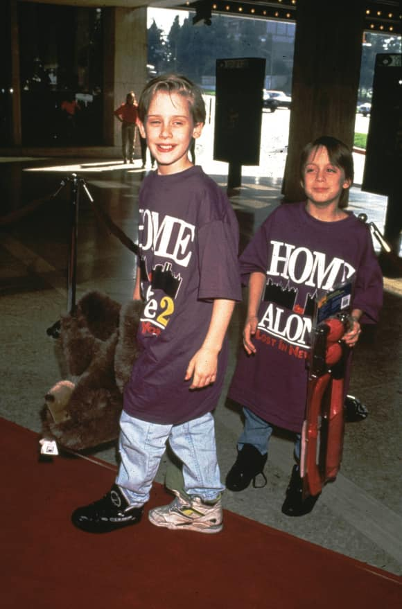 The Culkin brothers: Macaulay and Kieran