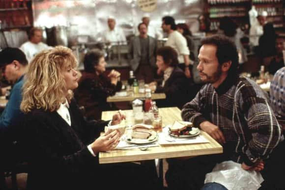 "Meg Ryan and Billy Crystal in ""When Harry Met Sally..."""