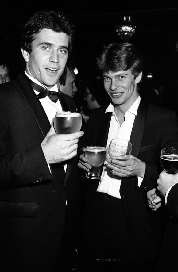 Mel Gibson and Mark LKee