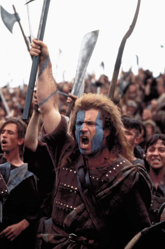 Mel Gibson in Braveheart famous quote maybe they'll take our lives, but they will never take our freedom