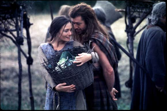 """Mel Gibson and Catherine McCormack in """"Braveheart"""""""