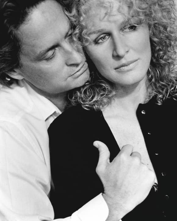 Glenn Close and Michael Douglas in 'Fatal Attraction'