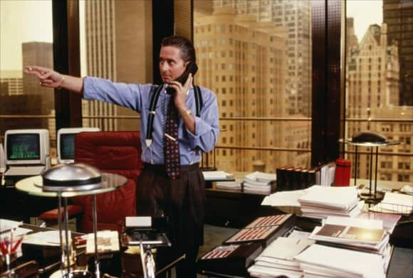 """Gordon Gekko"" in ""Wall Street"""