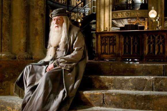 """Michael Gambon as """"Albus Dumbledore"""" in the """"Harry Potter"""" movies"""