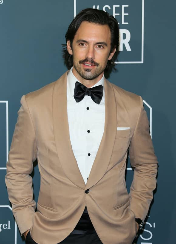 Milo Ventimiglia arrives for the 25th Annual Critics' Choice Awards at Barker Hangar Santa Monica airport on January 12, 2020 in Santa Monica, California