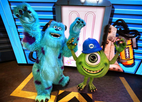 """James P. Sullivan"" and ""Mike Wazowski"" from Monsters Inc."