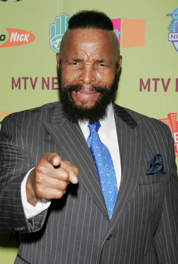 Mr. T played the role of 'B.A.' in the cult series 'The A-Team'.