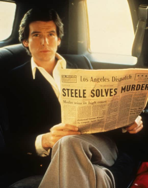 """Remington Steele"" star Pierce Brosnan"