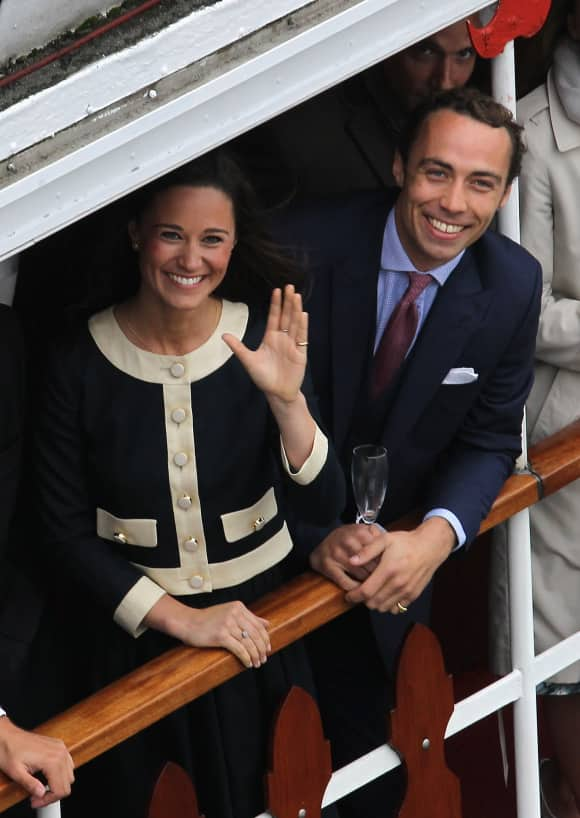 Siblings Pippa and James Middleton in 2012