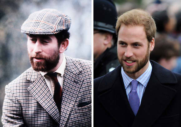 Hairy faces: Prince Charles and Prince William