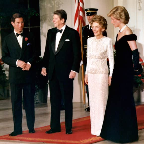 Charles and Diana at the White House in 1985.