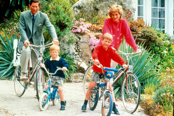 Prince Charles, Prince Harry, Prince William and Princess Diana