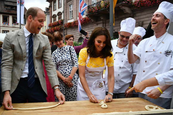 Prince William and Duchess Catherine in Heidelberg
