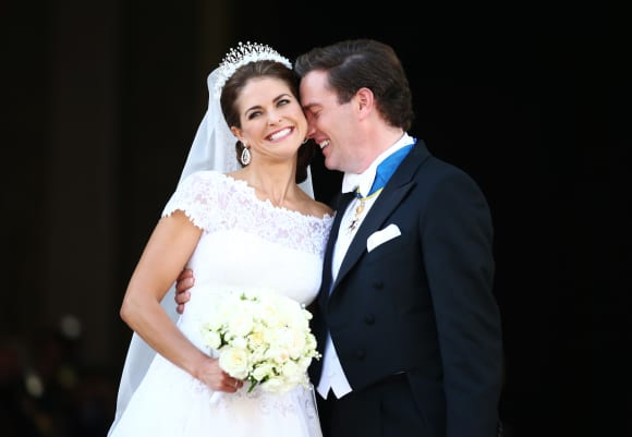 Princess Madeleine and Chris O'Neill on their wedding day June 8th in 2013.