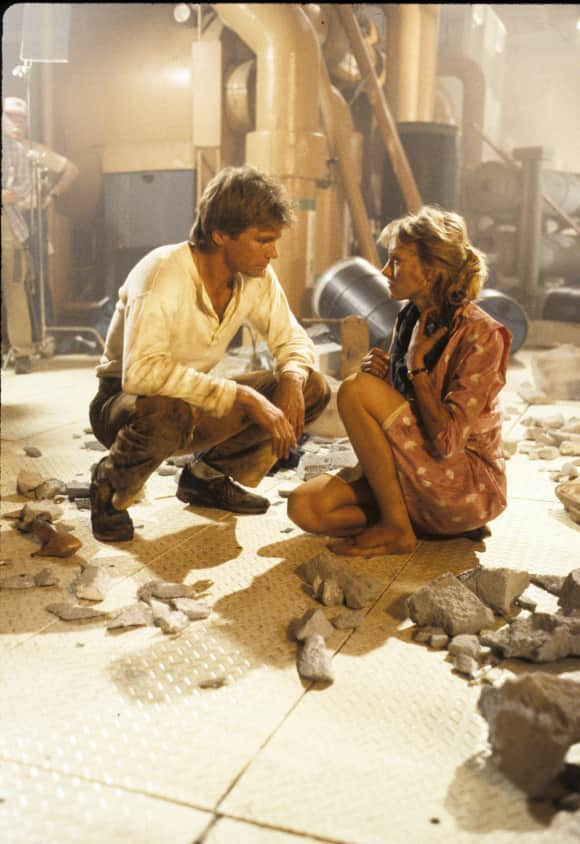 "Richard Dean Anderson and Darlanne Fluegel in ""MacGyver"""
