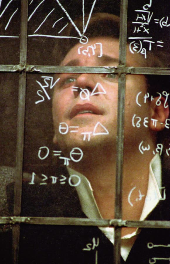 "Russel Crowe in ""A Beautiful Mind"""