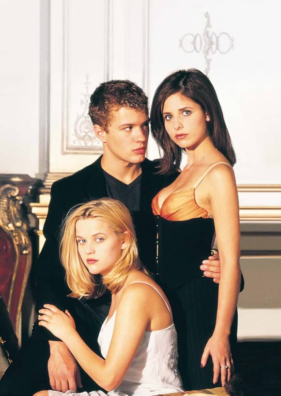 """Ryan Phillippe, Reese Witherspoon and Sarah Michelle Gellar in """"Cruel Intentions"""""""